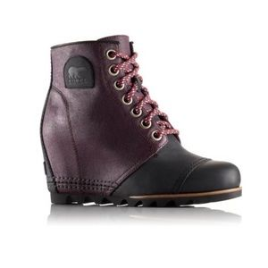 Sorel PDX 1964 Premium Purple Black Wedge Boot 9.5